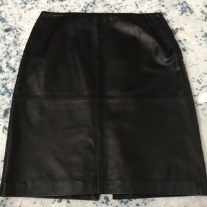 Gorgeous black leather pencil skirt Ann Taylor